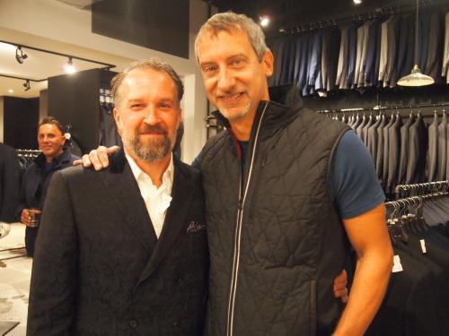 Canali's Peter Belci with Rothman's owner Ken Giddon