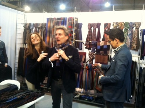 Mario Bisio at the Bespoken booth