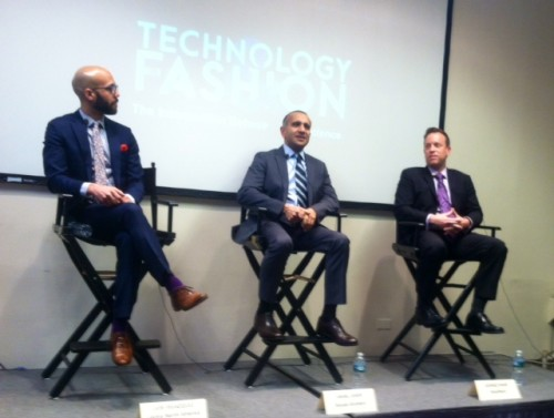 Luis Velazquez, Lectra; Sahal Laher, Brooks Brothers; and George Shaw, RetailNext