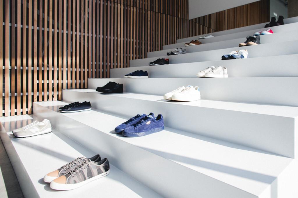 Likelihood stadium shoe display