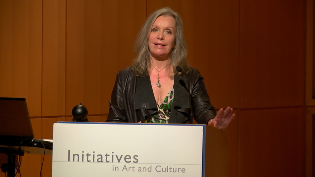 Pam Danziger speaking at the Arts and Initiative conference in NYC