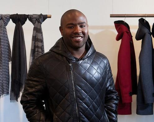 Fashion designer Brett Johnson