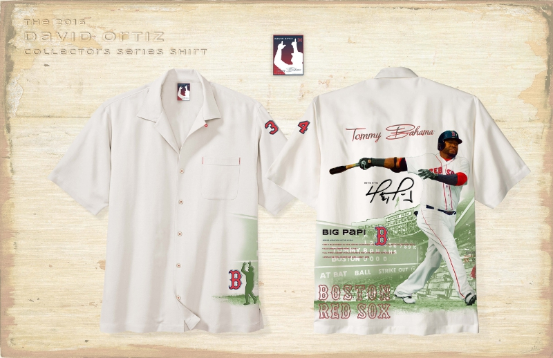 Tommy Bahama MLB 2016 Collector's Edition shirt featuring David Ortiz