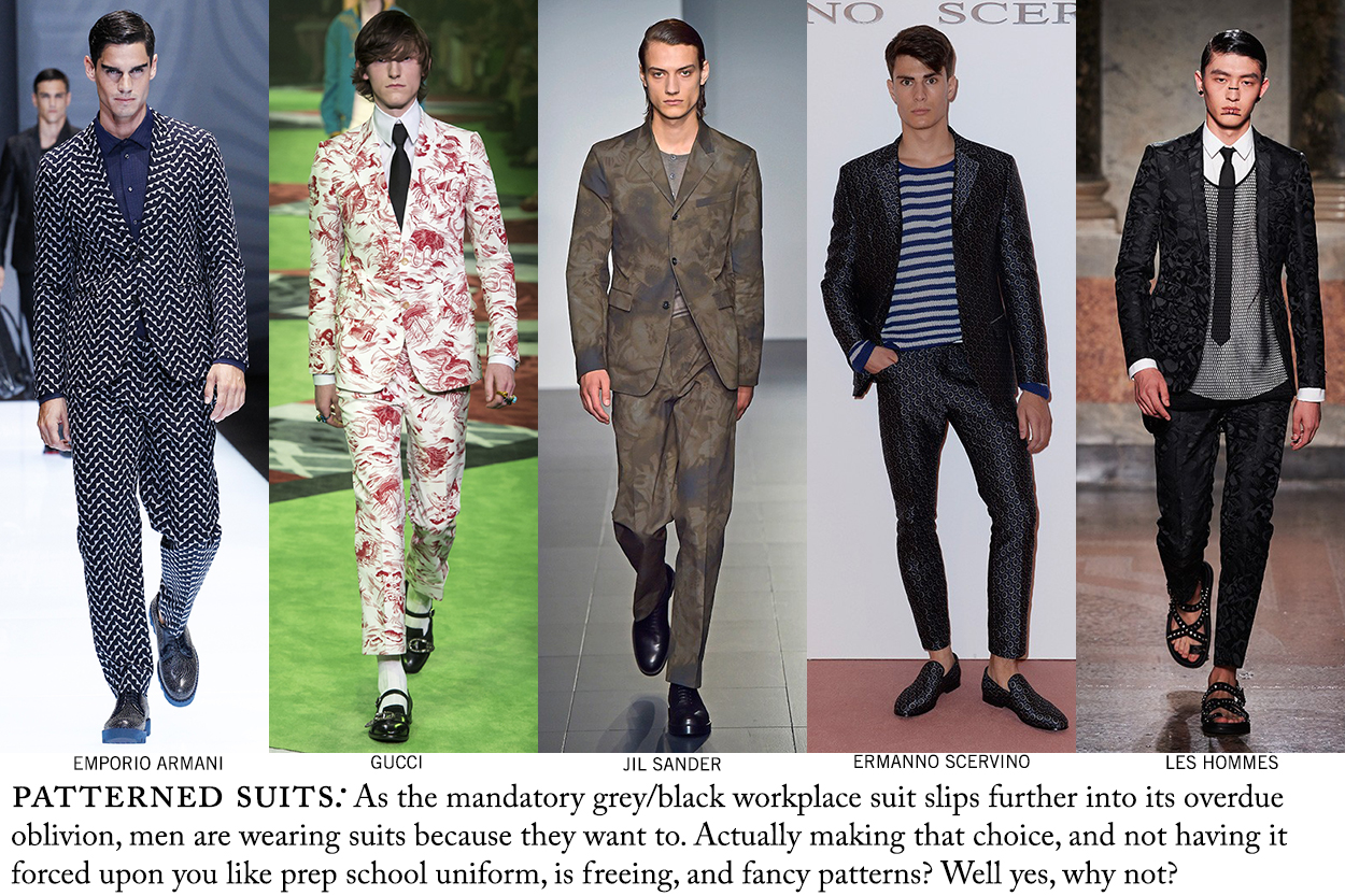 Pattered suits