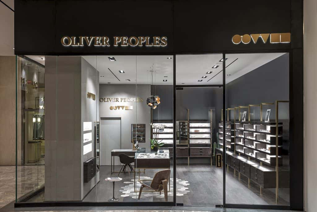 4c4d04c3c4 California-based luxury eyewear brand Oliver Peoples has opened its newest  boutique in Manhattan in downtown retail development Brookfield Place.