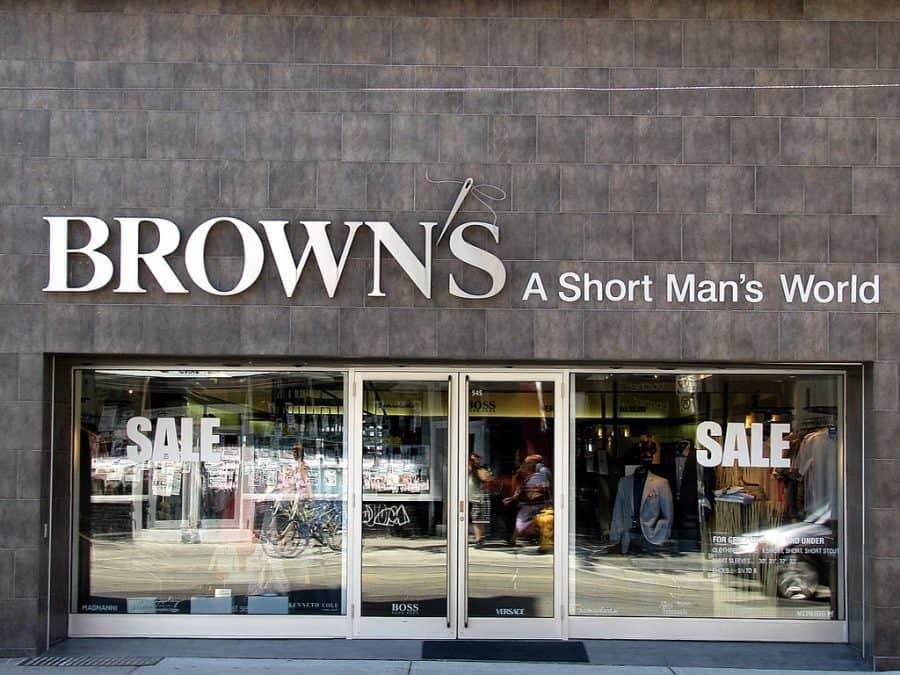 brown's menswear