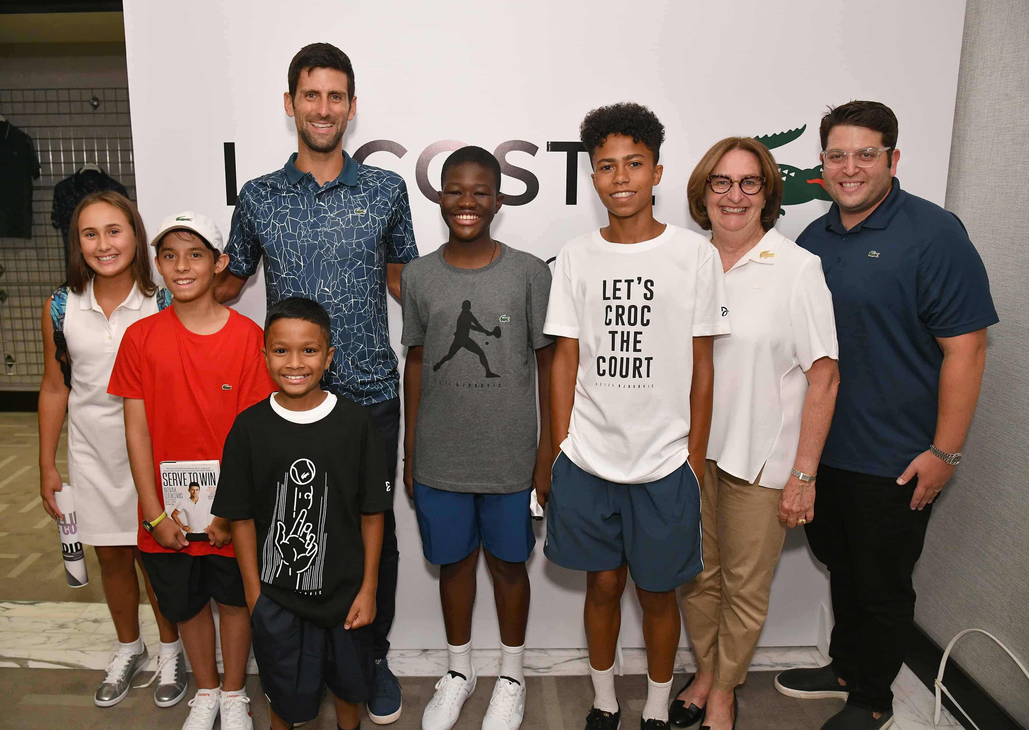 Lacoste Celebrates Tennis Champion Novak Djokovic At Macy S Herald Square