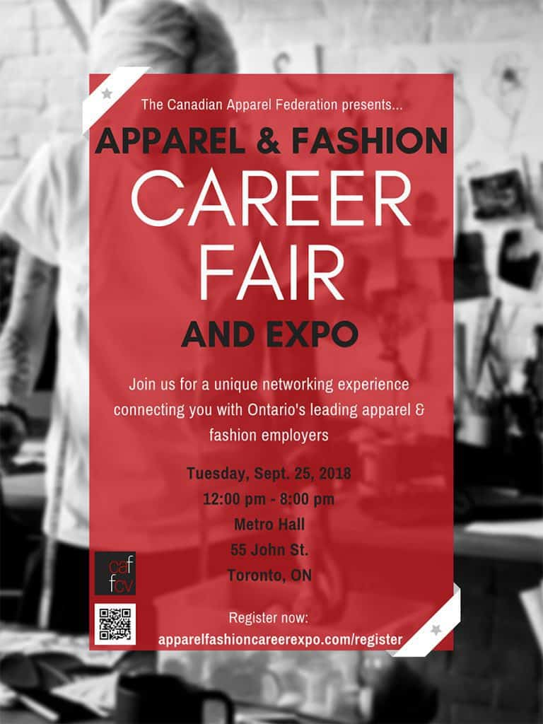 Canadian Apparel Federation Brings Apparel Fashion Career Fair To Toronto