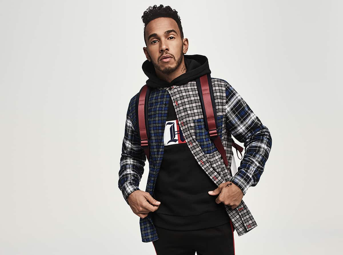 tommy hilfiger previews fall collection with lewis hamilton. Black Bedroom Furniture Sets. Home Design Ideas