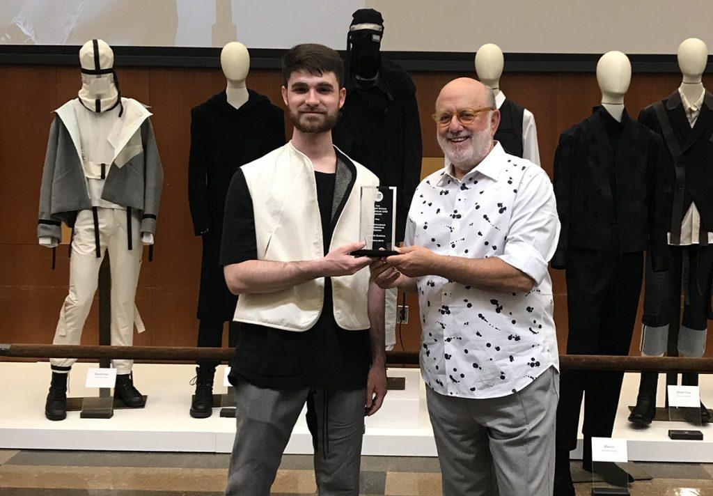 Robert Stock Presents Fit Menswear Award To David Garcia Mr Magazine