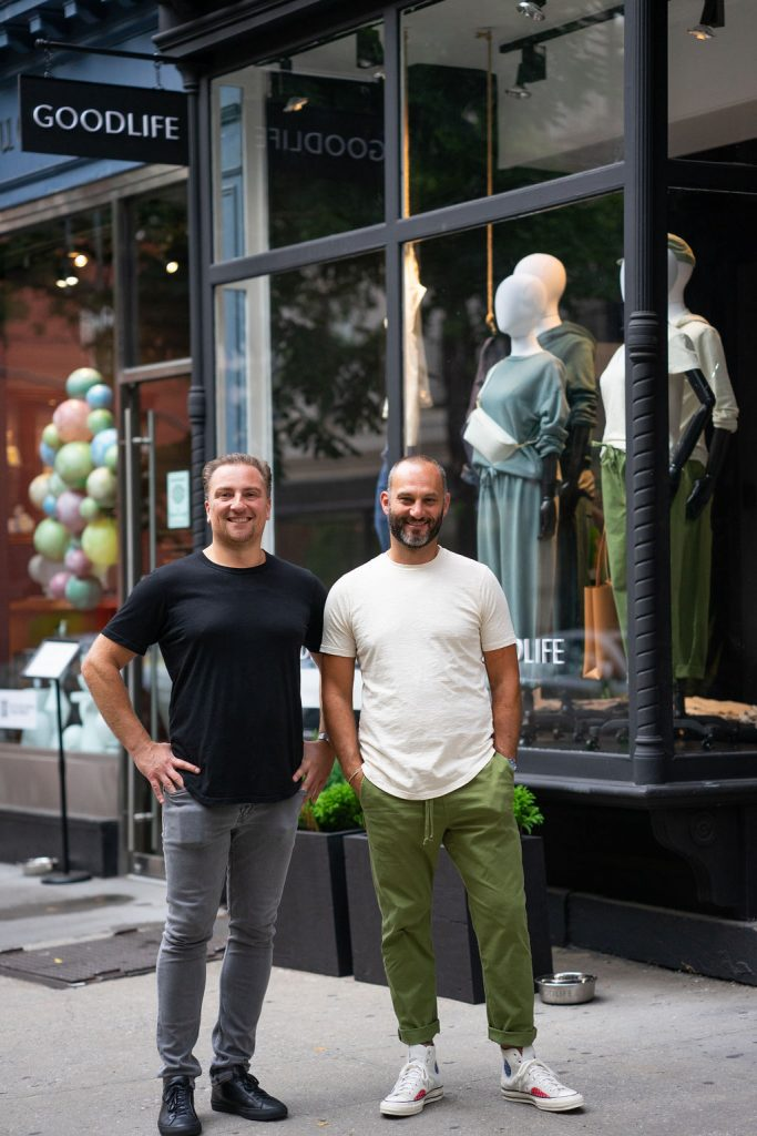 Goodlife Clothing Co-CEO Andrew Codispoti and founder and co-CEO Chris Molnar